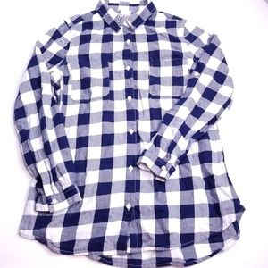 Old Navy Women's Button Front Plaid Shirt Size S